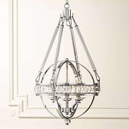 Victoria Chrome Crystal Orb Pendant Chandelier 16 Wide Modern 3-Light Fixture for Dining Room House Foyer Kitchen Island Entryway Bedroom Living Room – Possini Euro Design