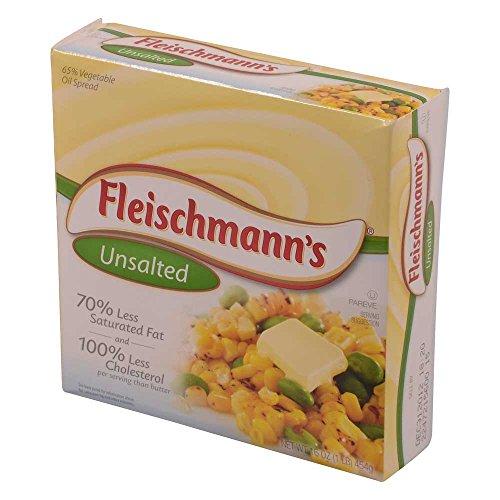 Conagra Fleischmanns Solid Margarine - Unsalted, 1 Pound - 18 per - Margarine Fleischmanns