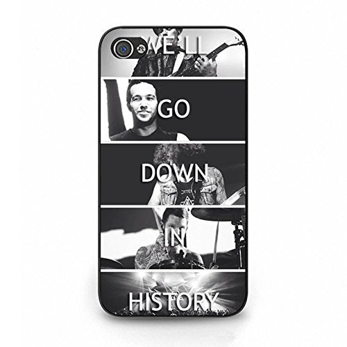Iphone 4 4s FOB Band Cover Shell Hybrid Retro Will Go Down In History EMO Rock Band Fall Out Boy Phone Case Cover for Iphone 4 4s