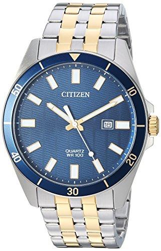 Citizen Men's ' Quartz Stainless Steel Casual Watch, Color Two Tone (Model: BI5054-53L) (Citizen Quartz Bracelet)
