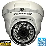 Ventech Hybrid HD 2.0MP 1080P AHD / 960H Dome Security Camera Outdoor 3.6mm Lens 24 IR LED Auto Day Night Video Surveillance cam (Default 1080P Mode) 12v