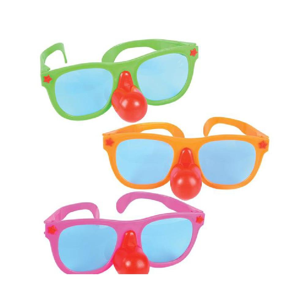 Jumbo Clown Nose Glasses by Bargain World