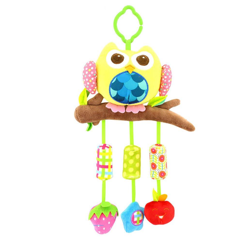 Ktyssp Kid Baby Spiral BedStroller Toy Animal Modeling Educational Plush Toy Sleeping
