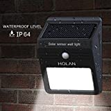 #9: Motion Sensor Solar Light , Mulcolor Wireless 12 LED Waterproof Solar Light Wall Light with Auto On/Off for Yard Garden Driveway Pathway Pool