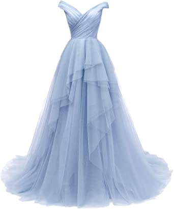 Tiered Tulle Prom Dresses Long