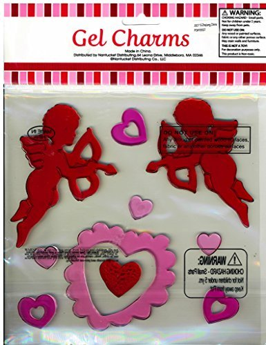 Cupid with Arrows and Hearts Valentine's Day Gel Window Clings