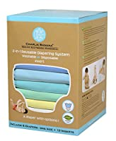 Image: Charlie Banana 2-in-1 Reusable Diapers | made of soft fleece which is hypoallergenic and stain free | Perfume free, chlorine free, chemical free