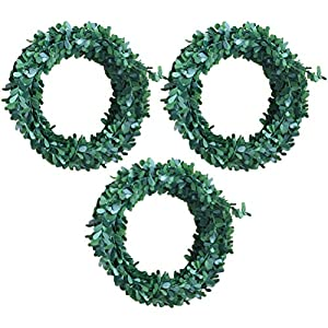 WINOMO Christmas Wreath Decoration Artificial Ivy Garland Green 7.5m Pack of 3 11
