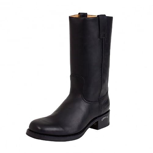 35d6ba47944 Sendra 3162 Biker Boots Black Leather Western Cowboy Handmade Unisex ...