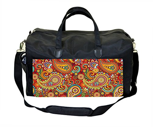 Multicolored Paisley Print Therapist Bag