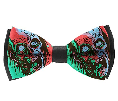 L Wright-King Halloween Scary Horror Skull Mens Pre-Tied Formal Tuxedo Bowtie for Adults & Children -