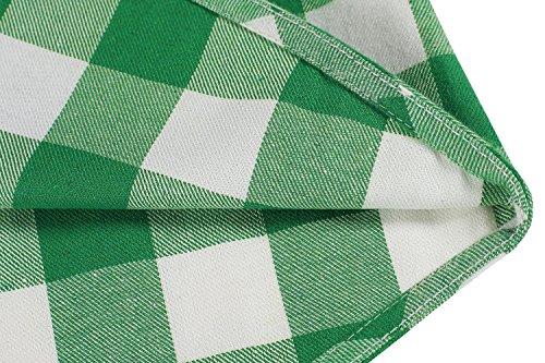 Coofandy Herren Hemd Langarm Kariert Freizeit Hemd Baumwolle Button-down, Grün, 3XL