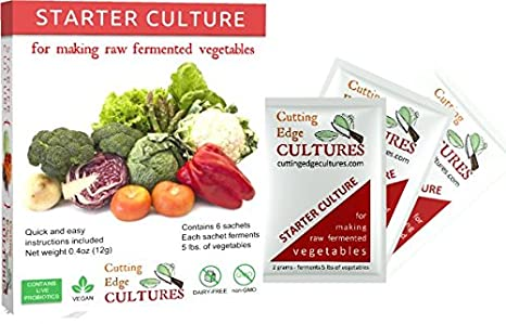 Amazon.com: Cutting Edge Cultures Vegetable Starter Culture ...