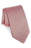 Salvatore Ferragamo Men's Red Heart Silk Neck Tie
