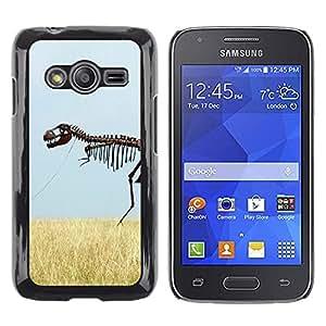 TECHCASE**Cubierta de la caja de protección la piel dura para el ** Samsung Galaxy Ace 4 G313 SM-G313F ** Skeleton Dinosaur Field Nature Grass Sky