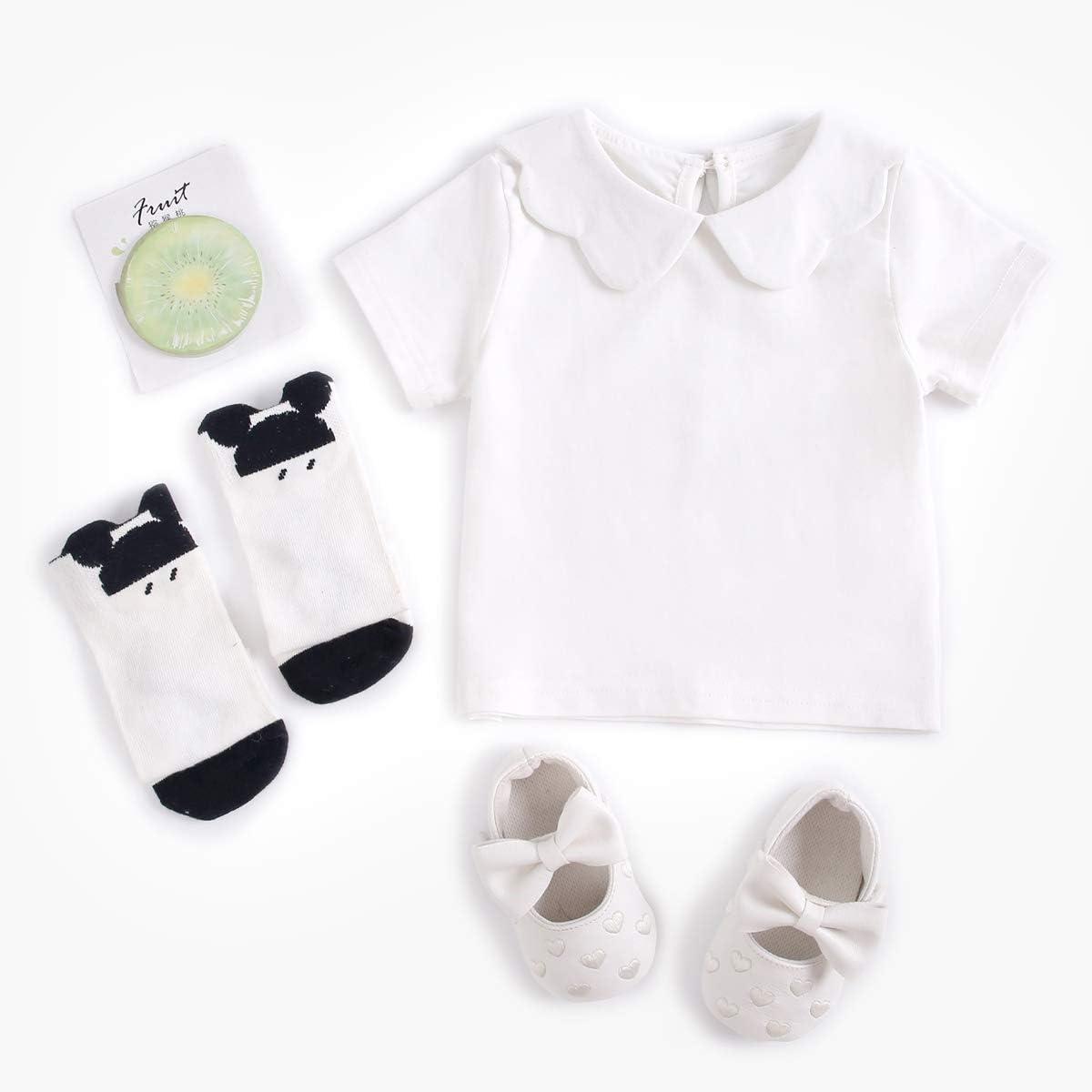 Sanlutoz Cotone Bambine Estate Set di Abbigliamento Moda Neonato T-Shirt Bambino Pagliaccetti