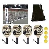Wolfe Sports Portable Pickleball Net SET Net/Paddles/Balls (Tournament)