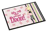 Caroline's Treasures Ballet Dance Stripes Blonde Doormat, 24 H x 36 W'', Multicolor