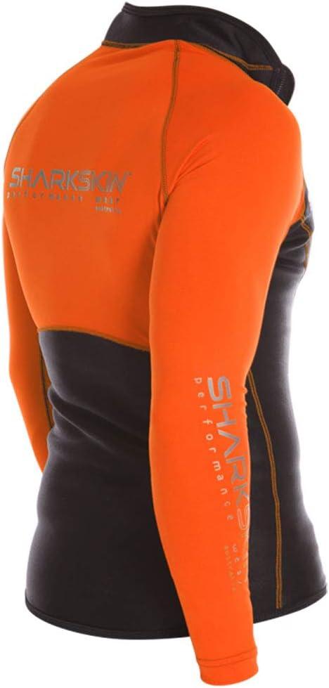Sharkskin Mens Chillproof Performance Wear Longsleeve Shirt Rash Guard Scuba Water Sports Diving Snorkeling