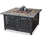 Endless Summer, GAD860SP, LP Gas Outdoor Firebowl with Slate/Marble Mantel
