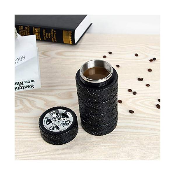 Taza de café estilo neumáticos | Letras y Latte - Libros en español y café