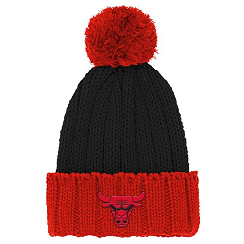 NBA Chicago Bulls Youth Boys Structured Adjustable Cap, One Size, Red by NBA by Outerstuff