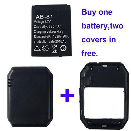 Price comparison product image Smart watch battery DZ09 rechargable lithium battery with 380MAH capacity