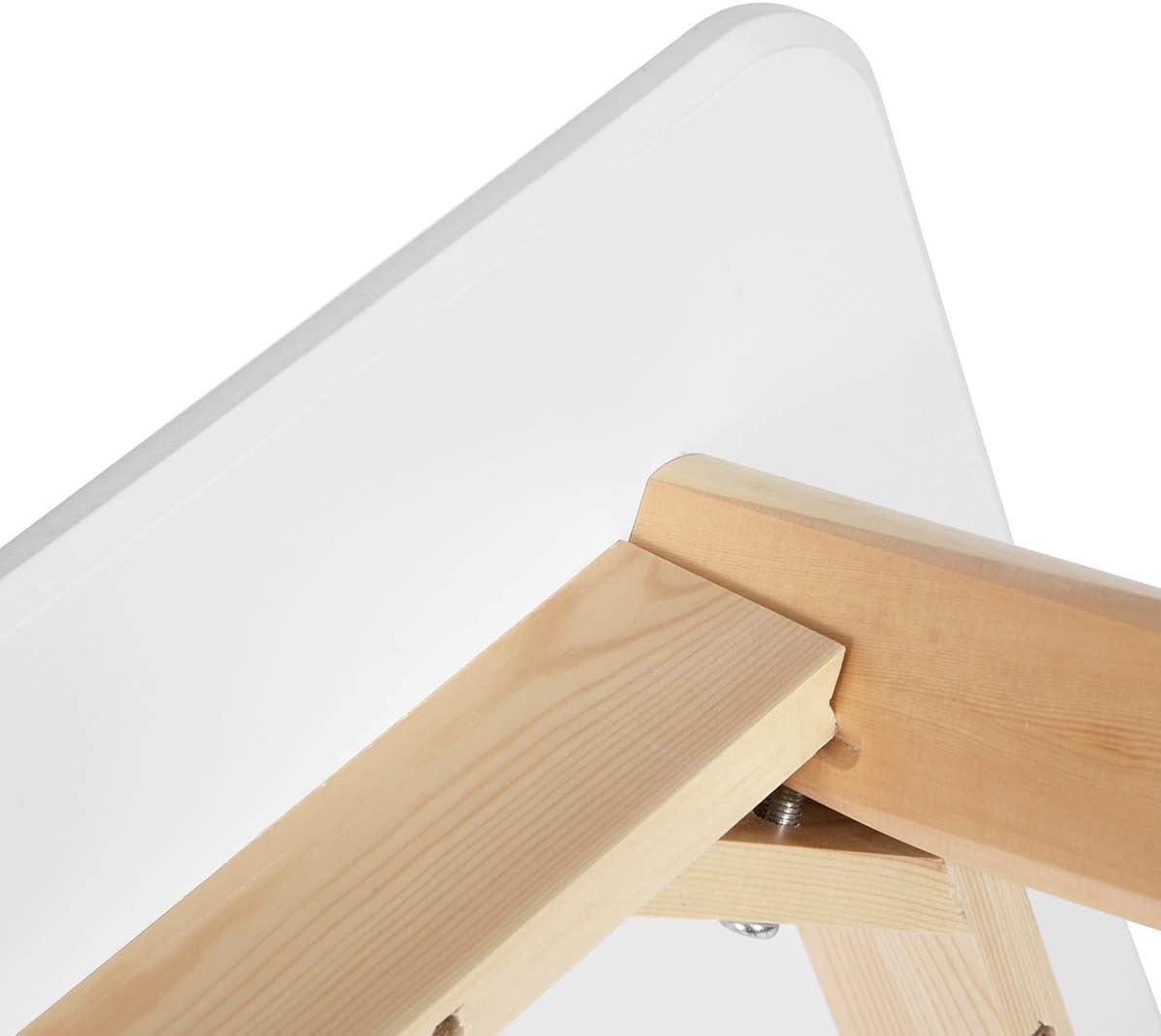 HOMYCASA Tavolo quadrato moderno tavolo da pranzo 80 cm cucina sala da pranzo mobili per 4 persone legno bianco