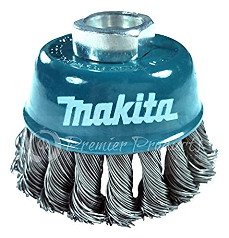 Makita® 1 Piece - 3 Inch Knotted Wire Cup Brush For Grinders - Heavy-Duty Conditioning For Metal - 3 x 5/8-Inch | 11 UNC |0.020 Thick (Carbon Brushes For Grinder Makita)