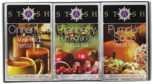 Stash Tea Autumn Teas Trio Gift Set (Pumpkin Gift)