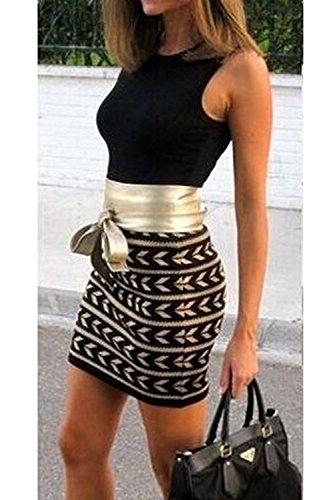 Black Patchwork Jumojufol Vestido Parte Mini Cuello Eleagnt Trabajo Bodycon Mujeres Scoop Club YOSxOPqaWw