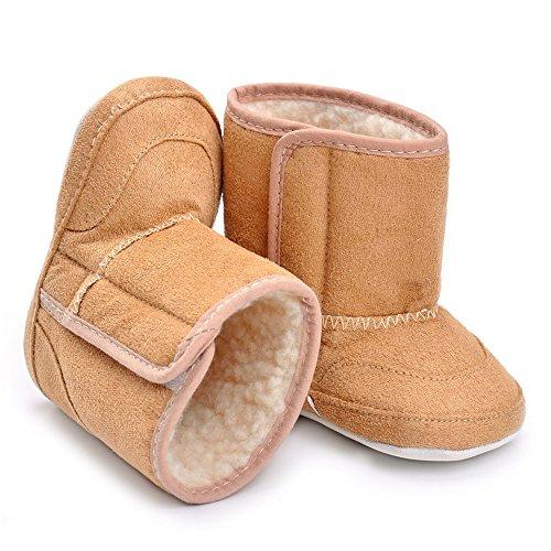 De cierre de diseño de palabra en inglés de seguridad para anclaje en de botas cubiertas de lodo, color Rosa, talla 12-18 meses - caqui