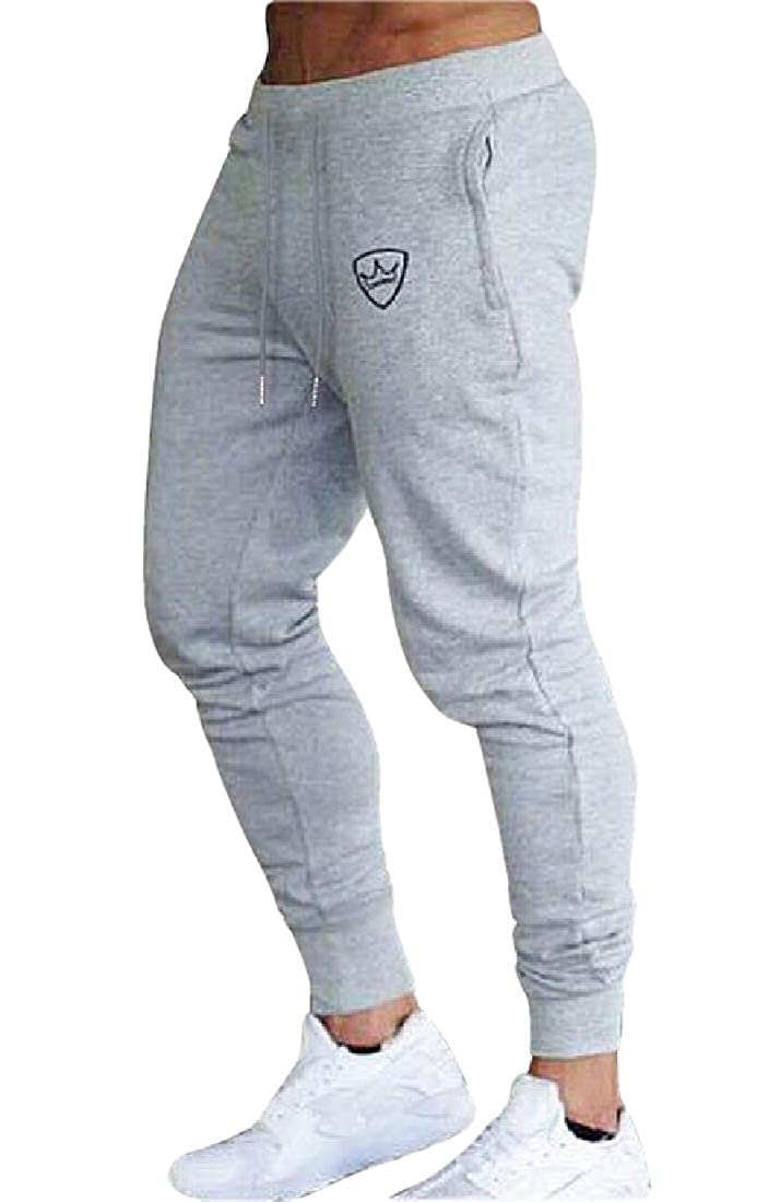 X-Future Mens Sports Elastic Waist Jogger Fashion Drawstring Long Pants