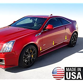 """TYGER Fits 08-13 Cadillac CTS Stainless Steel Trim 1//2/"""" Wide 6PC Overlay"""