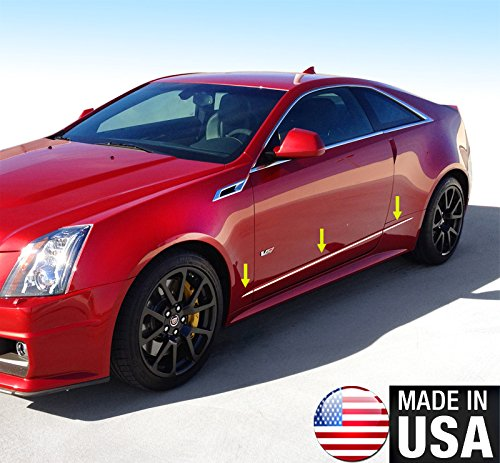 Made in USA! Works with 2011-2015 Cadillac CTS Coupe Body Side Molding Trim Accent 1/2'' Wide 6PC ()
