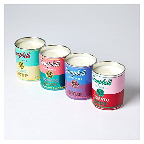 Andy Warhol ''Campbell'' Candle (Pink/Green)