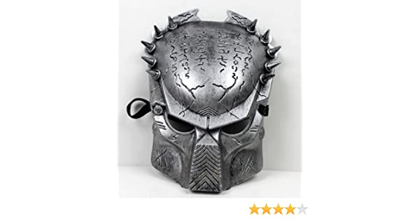 Predator Aliens vs Predator mask disguise face mask [silver] 12mm width belt with silver (japan import): Amazon.es: Juguetes y juegos