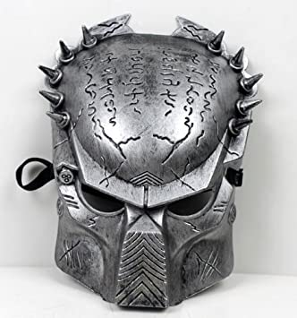 Predator Aliens vs Predator mask disguise face mask [silver] 12mm width belt with silver