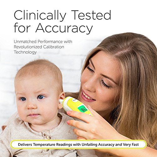 Forehead and Ear Thermometer for Baby, Kids and Adults - Digital Medical Infrared Thermometer for Body with Fever Indicator by ChadoDK (Image #1)