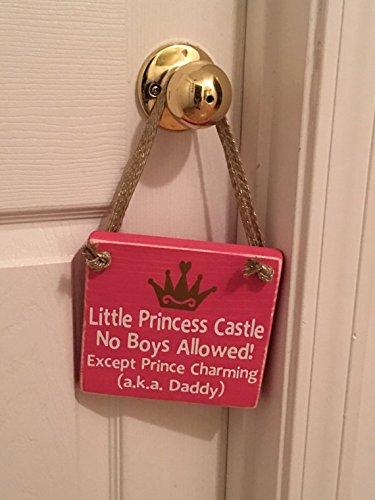 Little Princess Castle Wooden Nursery / Girl's Room Door Sign