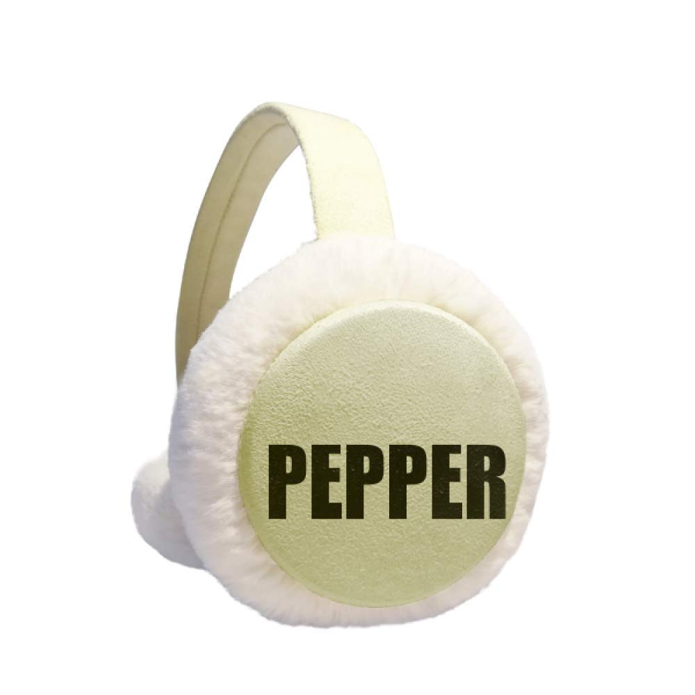 Pepper Vegetable Name Foods Winter Warm Ear Muffs Faux Fur Ear