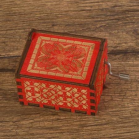 Caja De Música Sky City Hand Harry Potter Christmas Music Box Juego de tronos Rojo: Amazon.es: Hogar