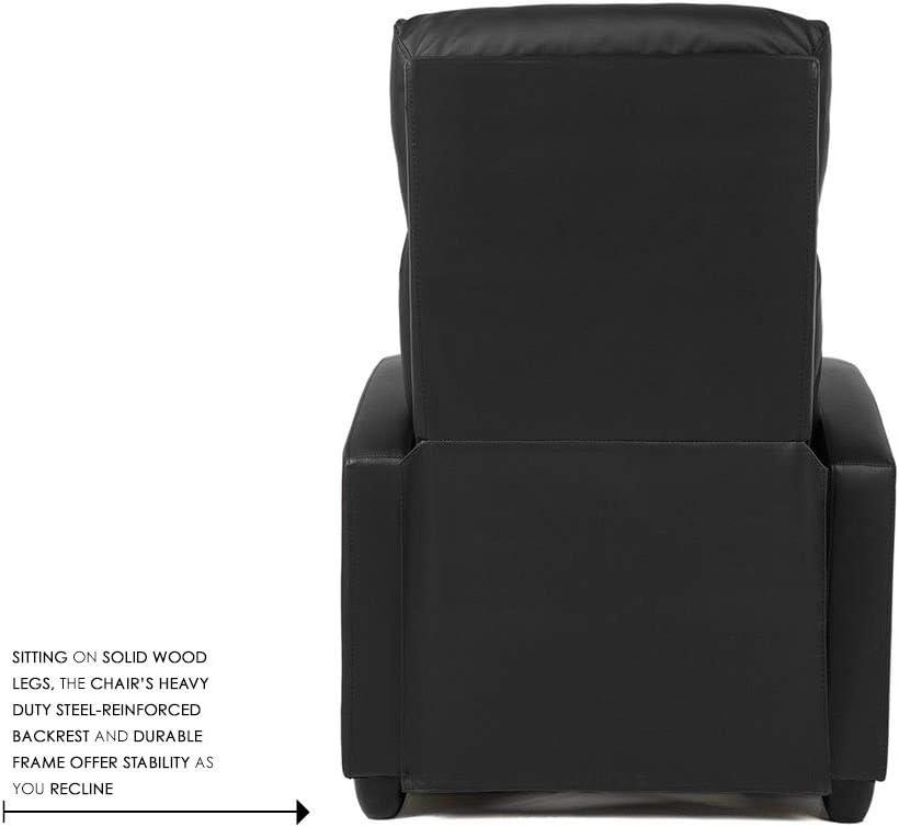 BestMassage Modern Leather Recliner Chair solid wood leg