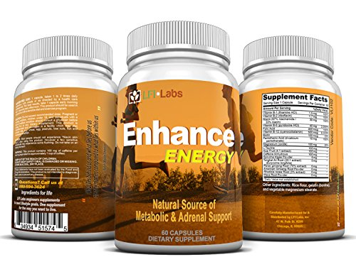 LFI Enhance Energy - Stack for 6 Solid Hours of Energy, Metabolic Fat Burning, Concentration, and Focus, Plus Antioxidants