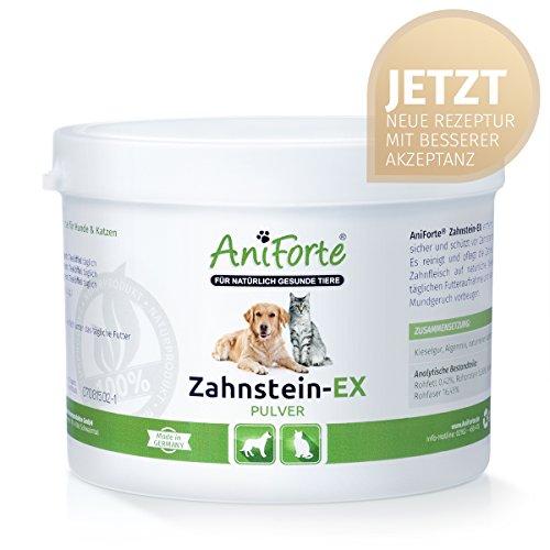 AniForte Zahnstein-EX 300 g mit verbesserter Rezeptur- Naturprodukt für Hunde und Katzen