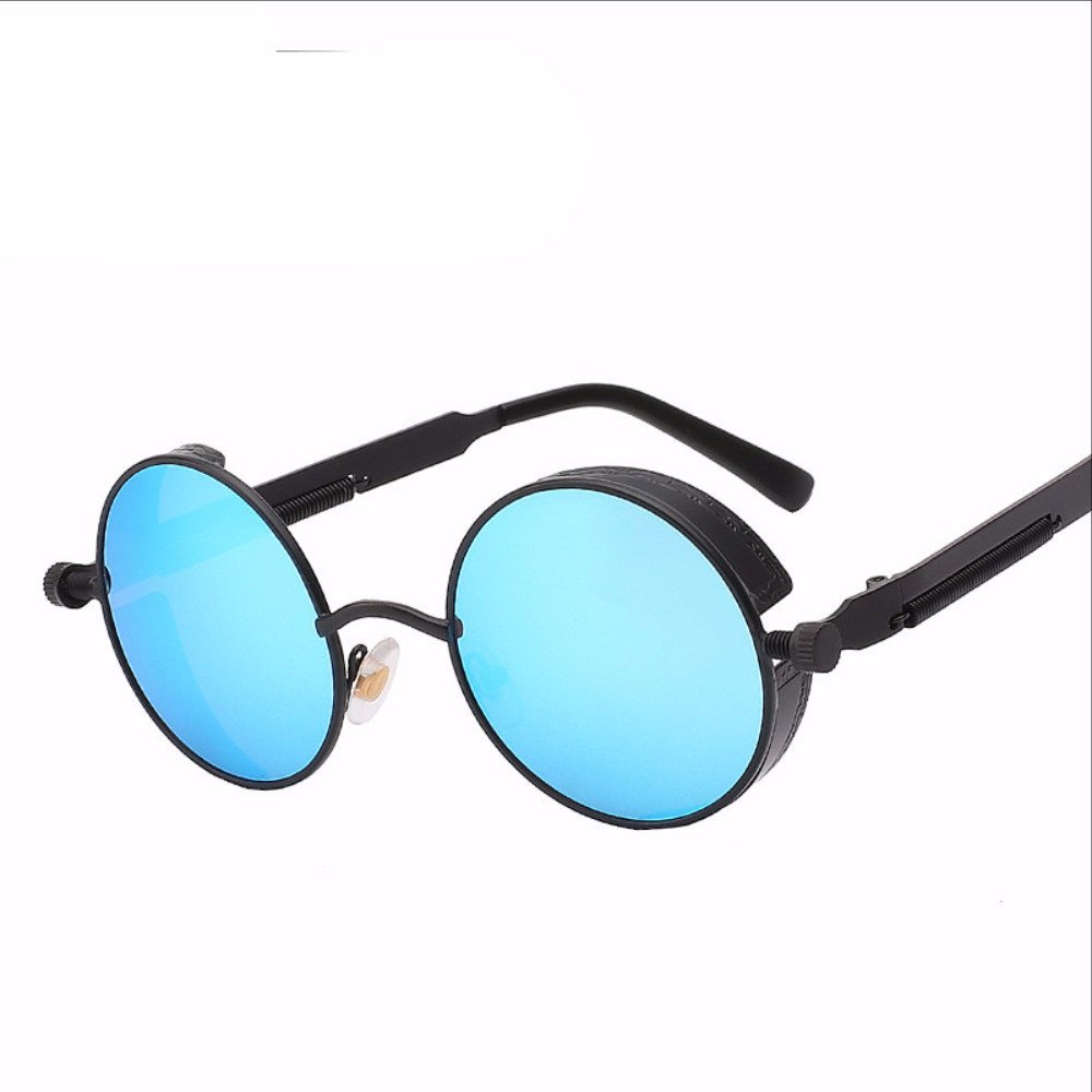 Gothic Steampunk Mens Sunglasses Coating Mirrored Sunglasses ...