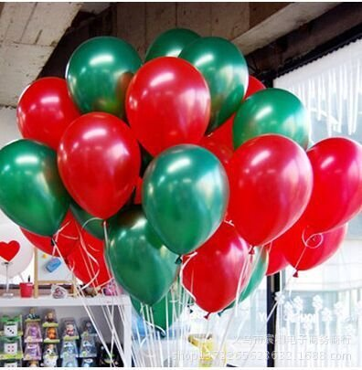 christmas balloons decoration 10 inch colour latex balloons 90 packs for kids greenred