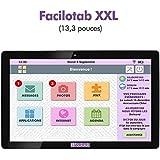 Tablette Facilotab XXL 13,3 Pouces WiFi - 16 Go - Android 6 (Interface Simplifiée pour Seniors)