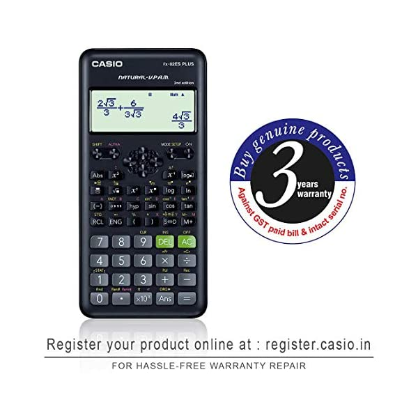 Casio FX-82ES Plus 2nd Edition - Non-Programmable Scientific Calculator, 252 Functions 4