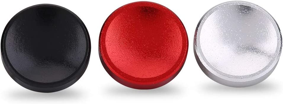 Tosuny 3PCS Camera Button Fits for Cameras with Screw Hole on The Shutter Release Button Red Black Silver Aluminium Alloy Shutter Button with Concave Surface